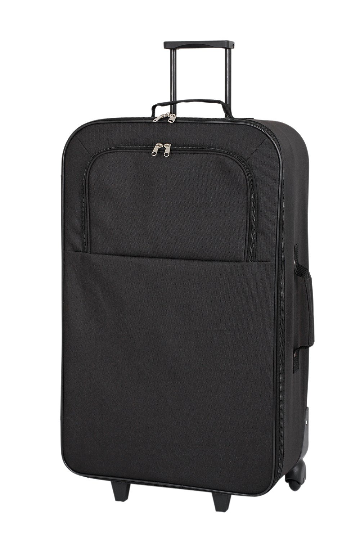 'Simple Value Soft 2 Wheeled Large Suitcase - Black