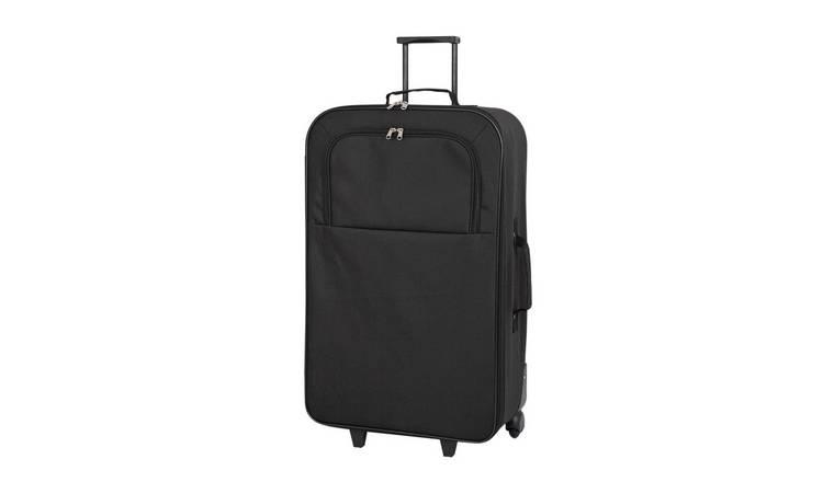 e253de751 Buy Simple Value Soft 2 Wheeled Large Suitcase - Black | Suitcases ...