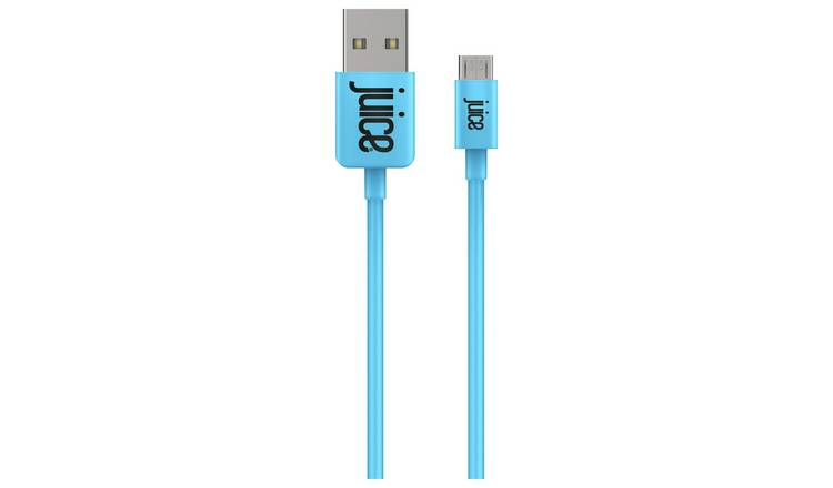 Juice USB to Micro USB 1.5m Charging Cable - Aqua