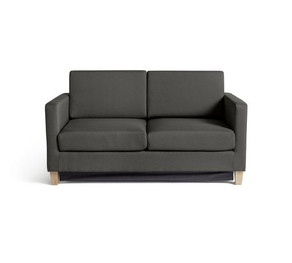 buy argos home rosie 2 seater fabric sofa bed grey. Black Bedroom Furniture Sets. Home Design Ideas