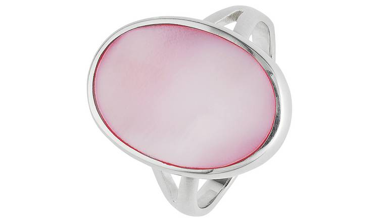 Revere Sterling Silver Pink Mother of Pearl Ring - N