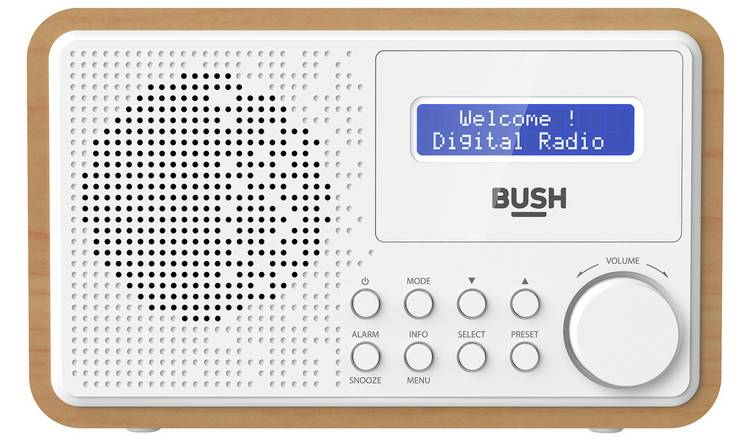 Bush Wooden DAB Radio - White