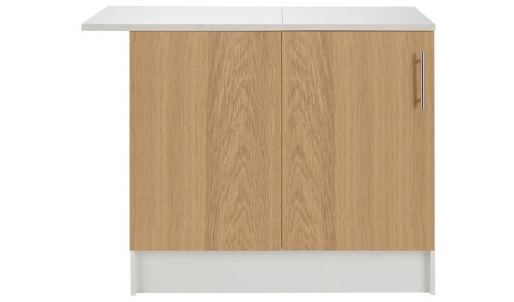 Argos Home Athina Fitted Kitchen Corner Base Unit - Oak