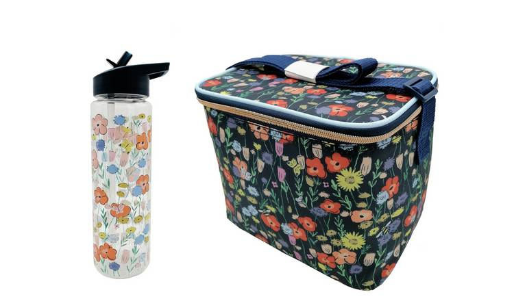 Floral Bee Bag & Bottle Set - 700ml