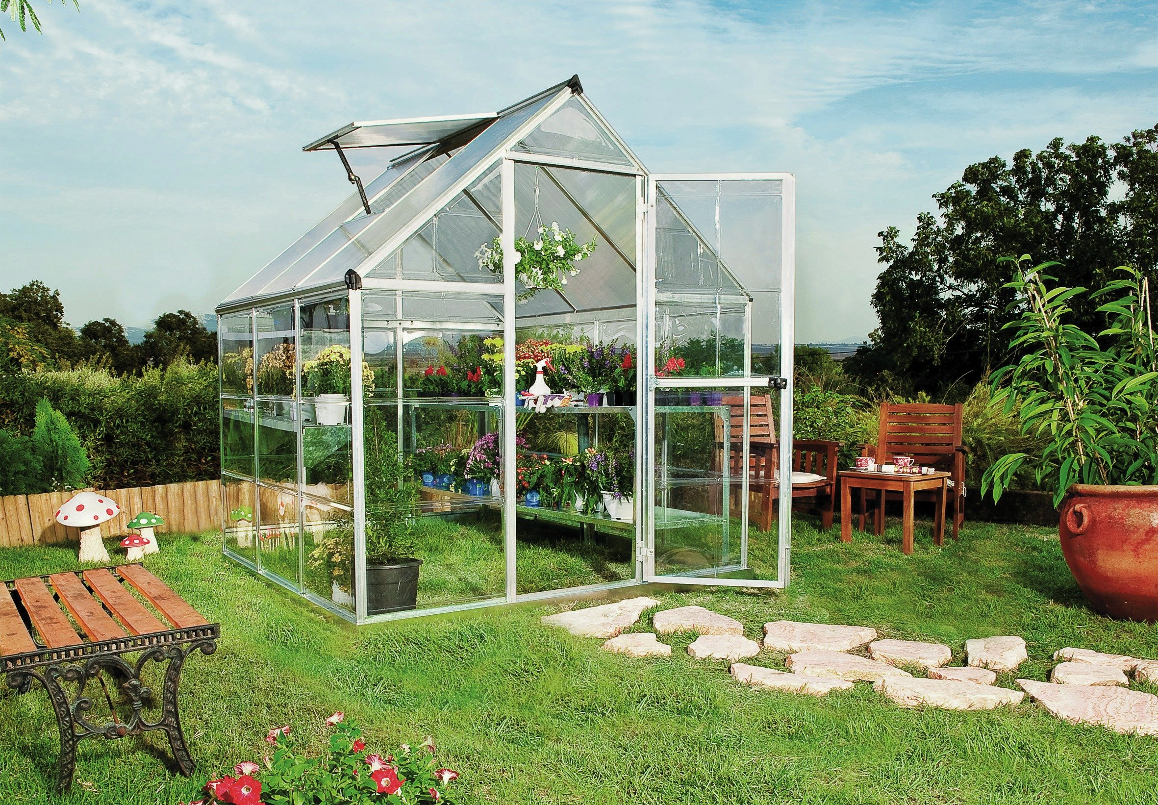 Sale On Mill Poly Twin Walled 6 X 6ft Greenhouse At Argos