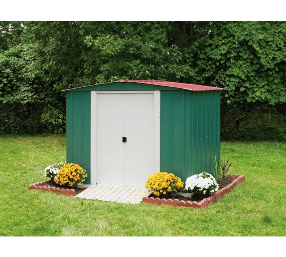 arrow metal garden shed 8 x 6ft