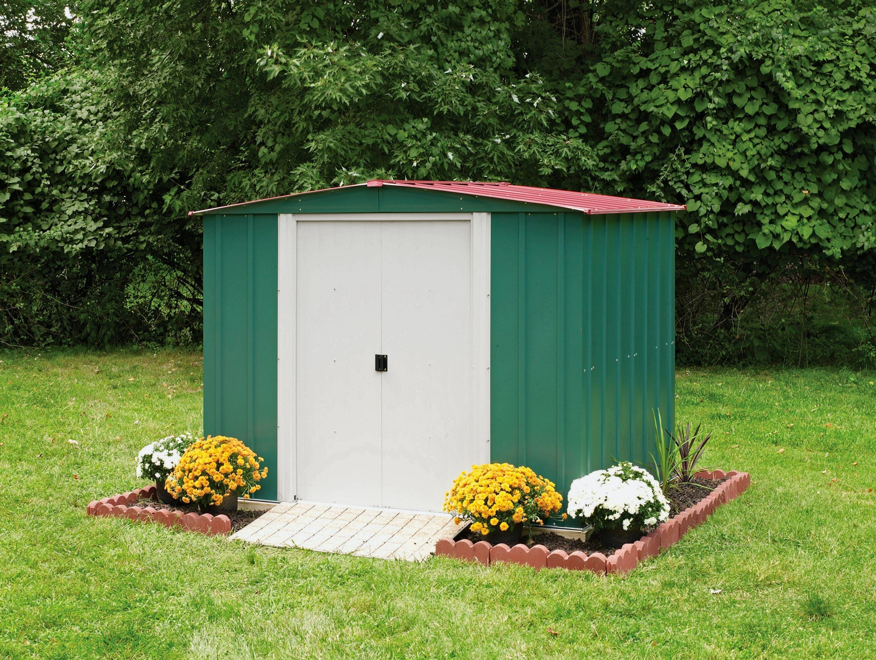 Garden Sheds 6x7 buy arrow metal garden shed - 8 x 6ft at argos.co.uk - your online