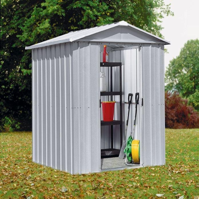 Image of Yardmaster - Apex Metal Garden Shed - 6 x 4ft