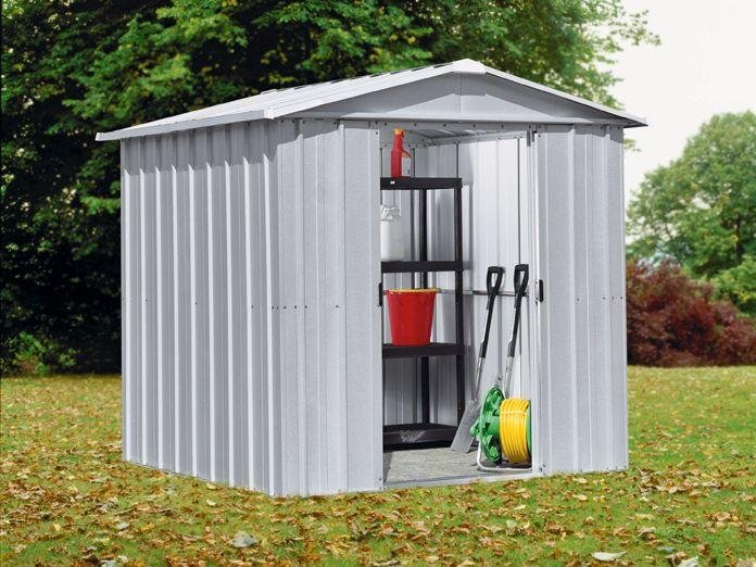 Image of Yardmaster - Apex Metal Garden Shed - 6 x 6ft