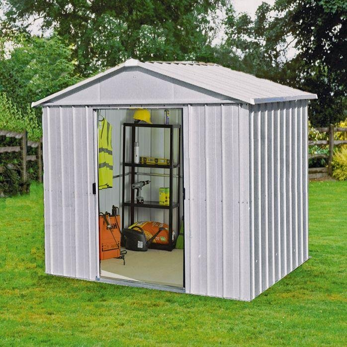 Image of Yardmaster - Apex Metal Garden Shed - 8 x 7ft