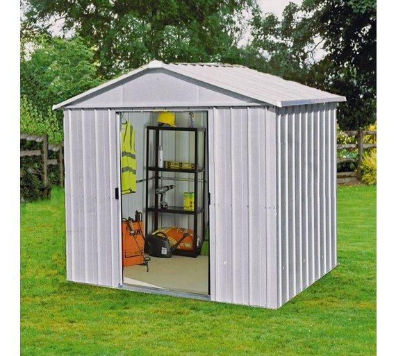 yardmaster metal garden shed 8 x 7ft