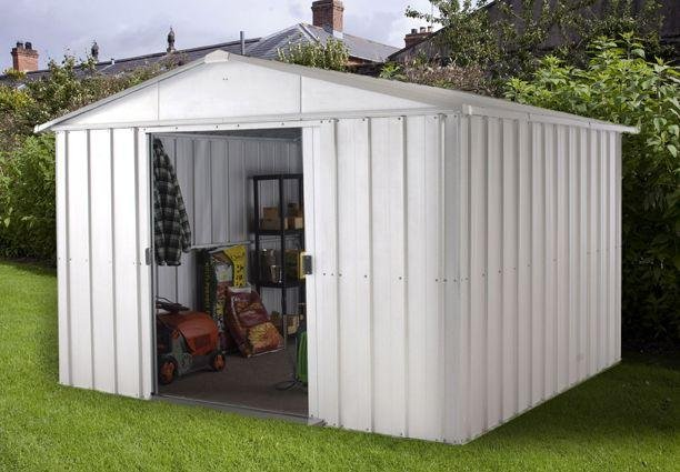 Image of Yardmaster - Apex Metal Garden Shed - 10 x 8ft