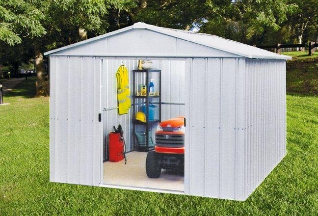 Image of Yardmaster Metal Garden Shed - 10 x 10ft