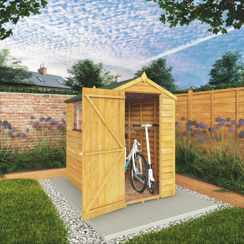Garden Sheds Argos buy mercia overlap wooden garden shed - 6 x 4ft at argos.co.uk