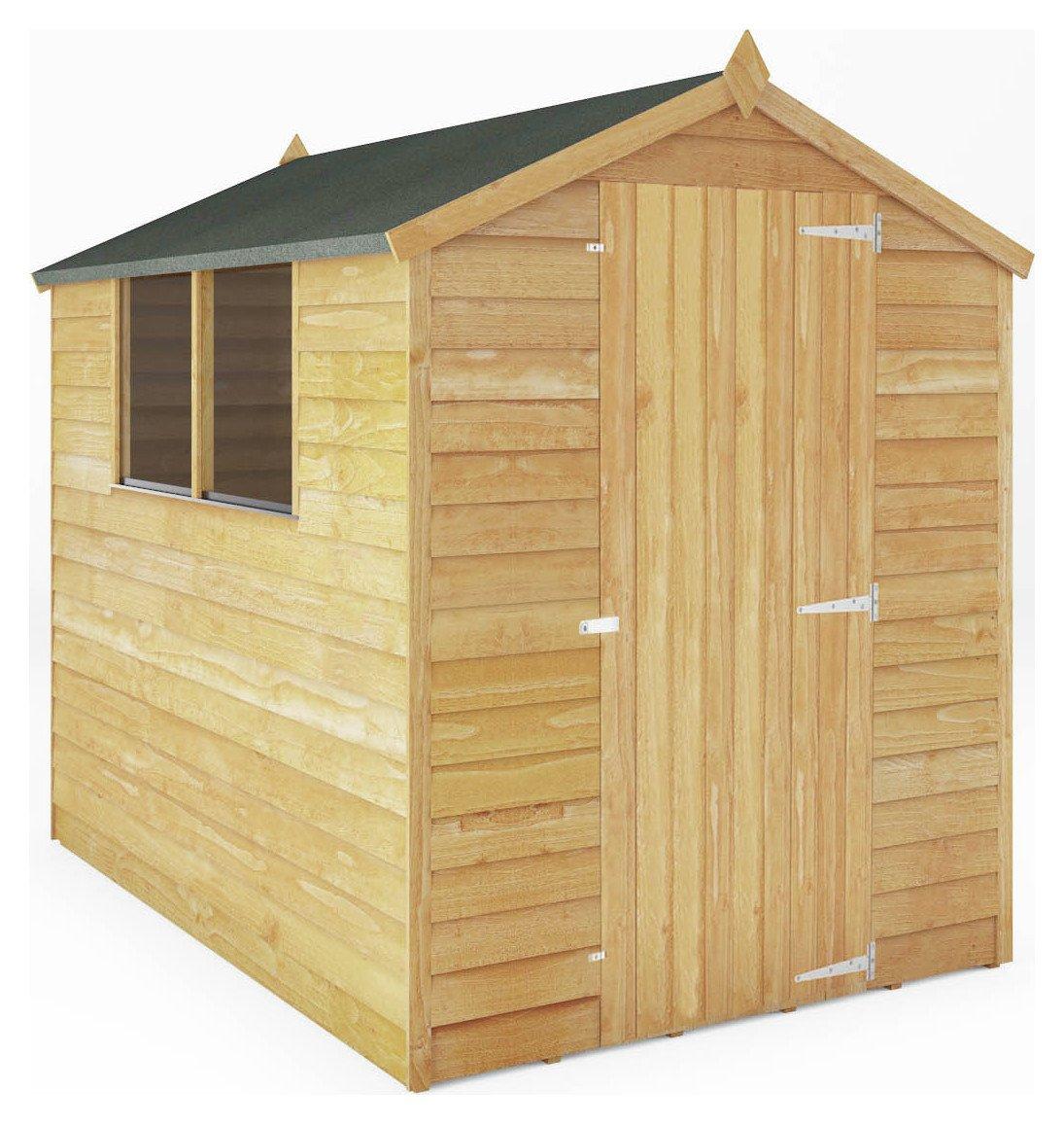 Garden Sheds Argos buy mercia overlap wooden garden shed - 7 x 5ft at argos.co.uk