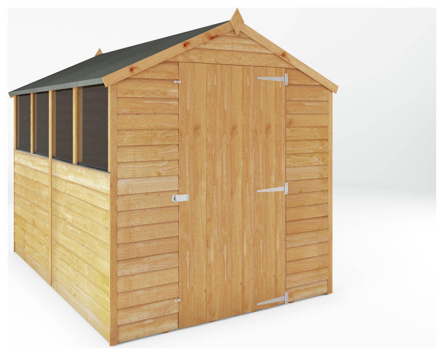 Garden Sheds Argos buy mercia overlap wooden garden shed - 8 x 6ft at argos.co.uk