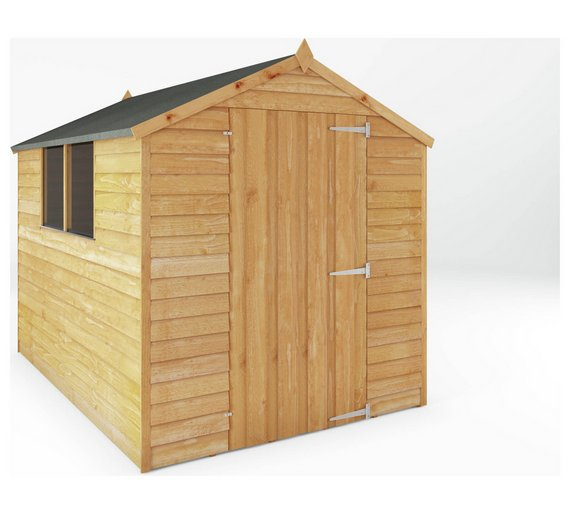 Buy Mercia Overlap Apex Wooden Garden Shed