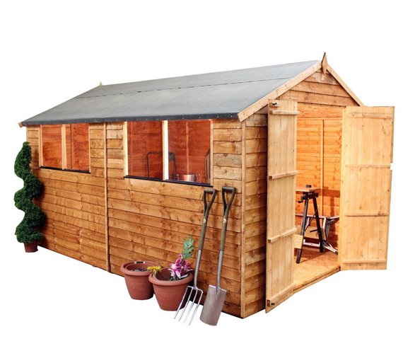 mercia overlap wooden garden shed 10 x 8ft
