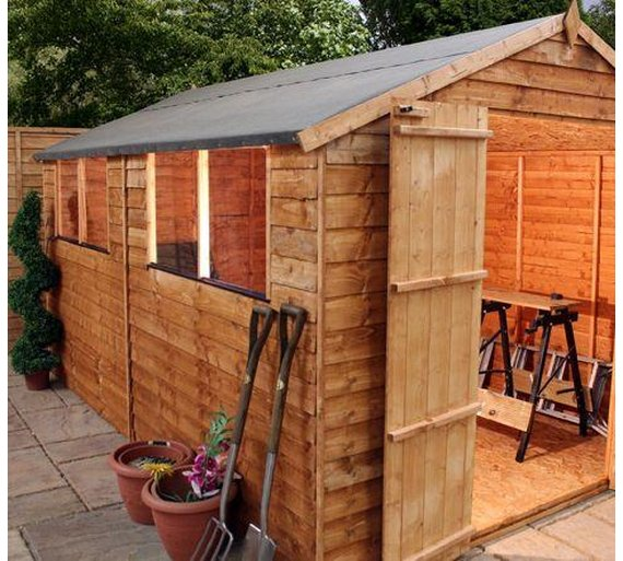 Buy Mercia Garden Overlap Apex Wooden Garden Shed