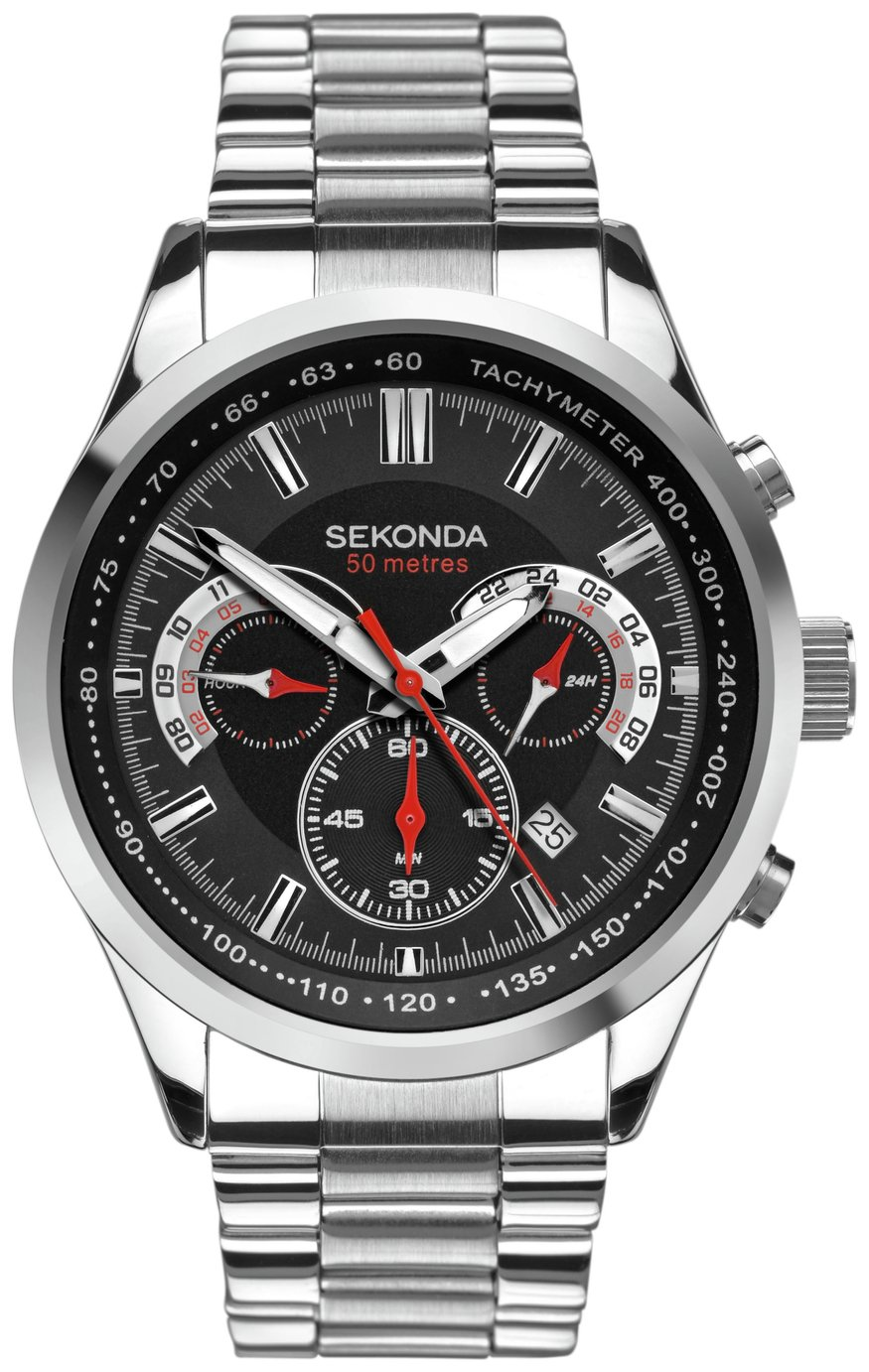 Sekonda Men's Stainless Steel Bracelet Dual Time Watch