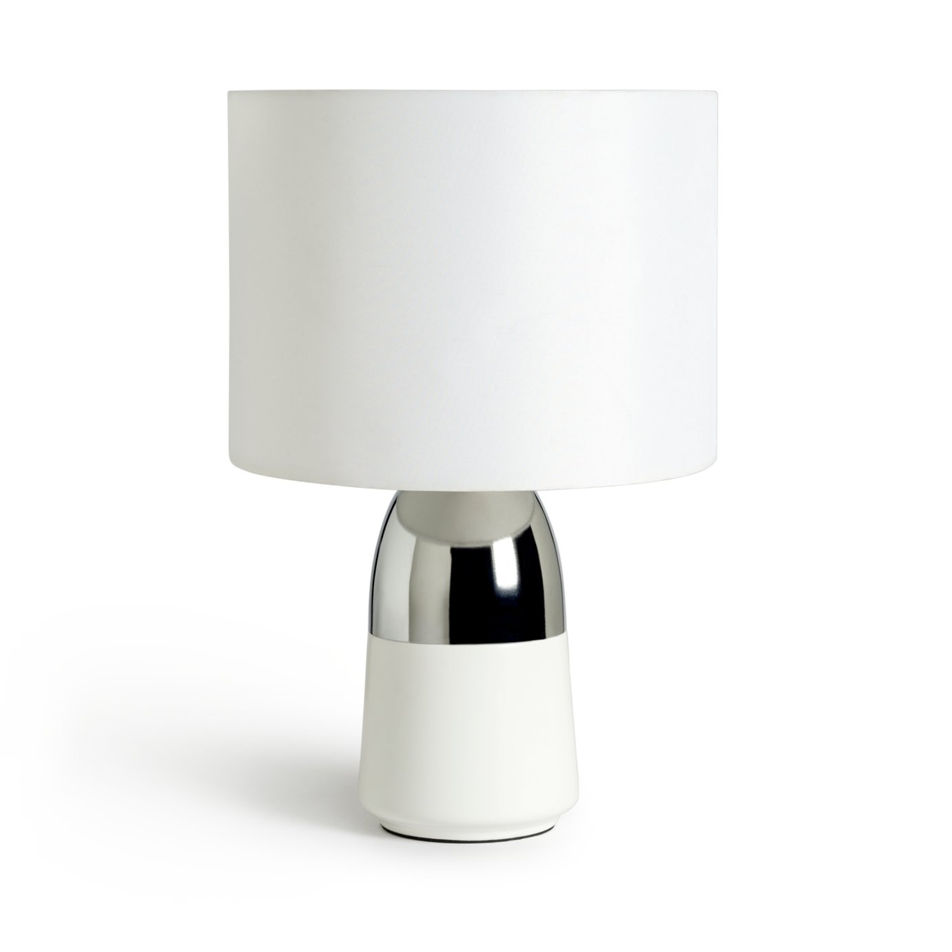 Argos Home Duno Touch Table Lamp - Chrome & White
