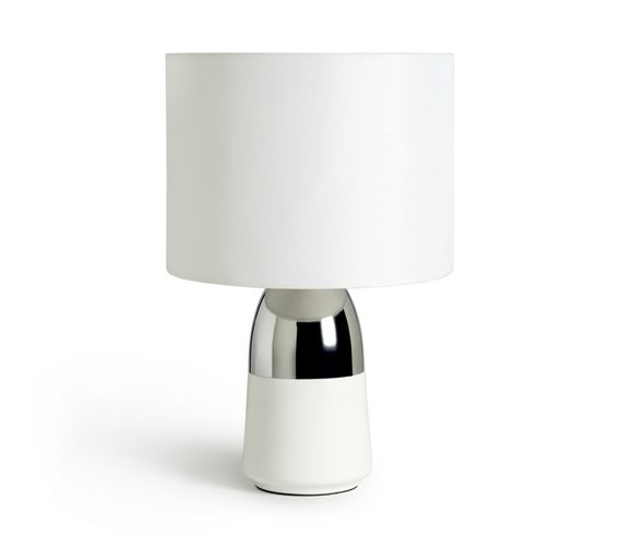 Buy argos home duno touch table lamp white chrome table lamps argos home duno touch table lamp white chrome aloadofball Images
