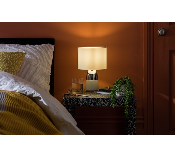 Buy argos home duno touch table lamp white chrome table lamps click to zoom aloadofball Gallery