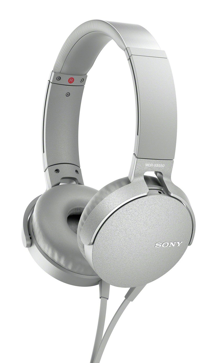 Sony MDR-XB550AP Over-Ear Headphones - White