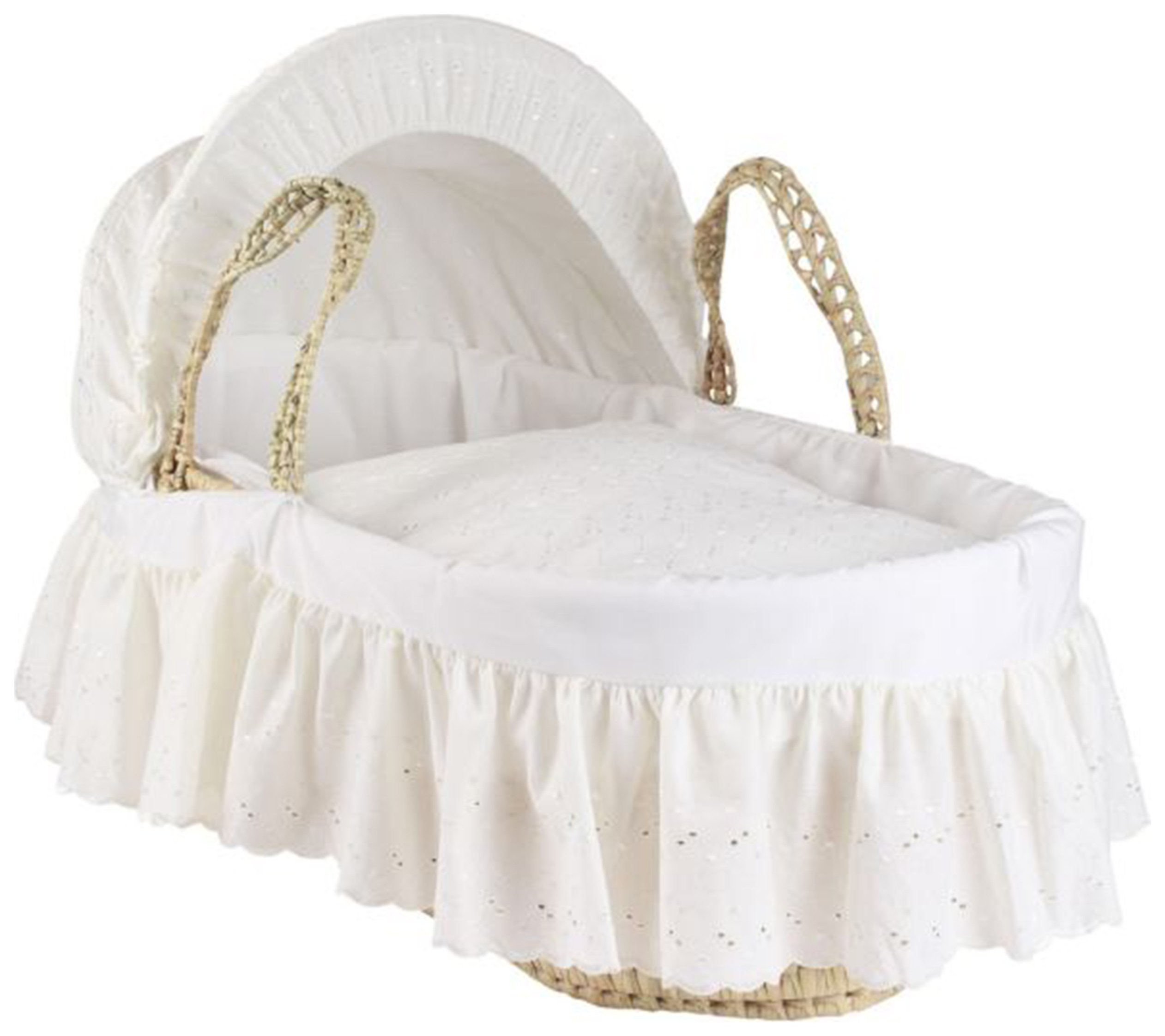 Cuggl Moses Basket - Broderie Anglaise