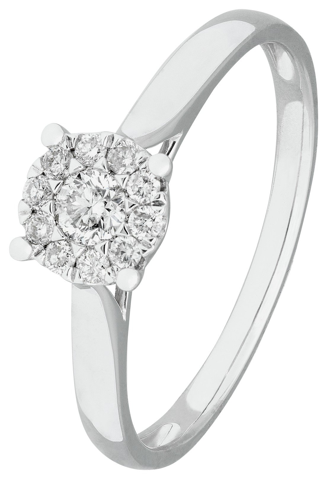 Revere 9ct White Gold 0.25ct tw Diamond Halo Ring