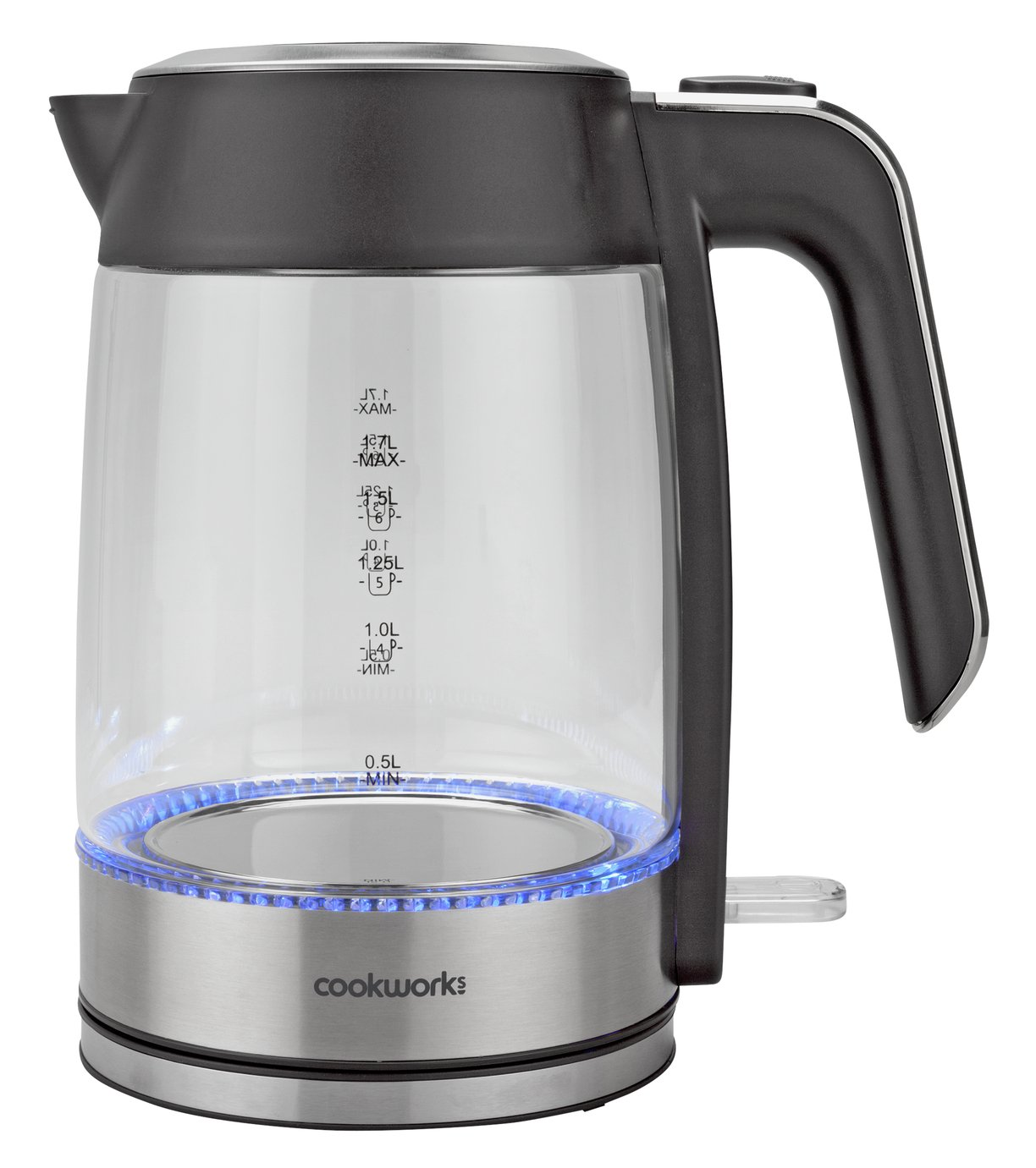 Cookworks Illuminating Kettle - Glass and Stainless Steel
