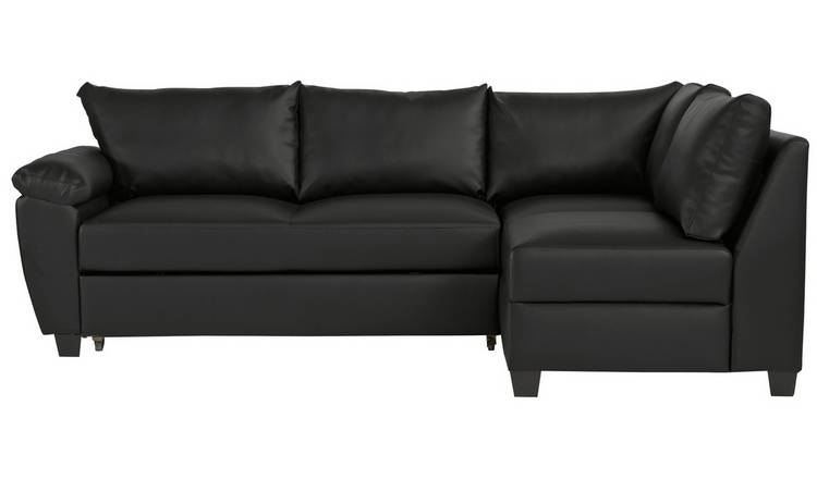 Buy Argos Home Fernando Right Corner Sofa Bed - Black | Sofa beds | Argos