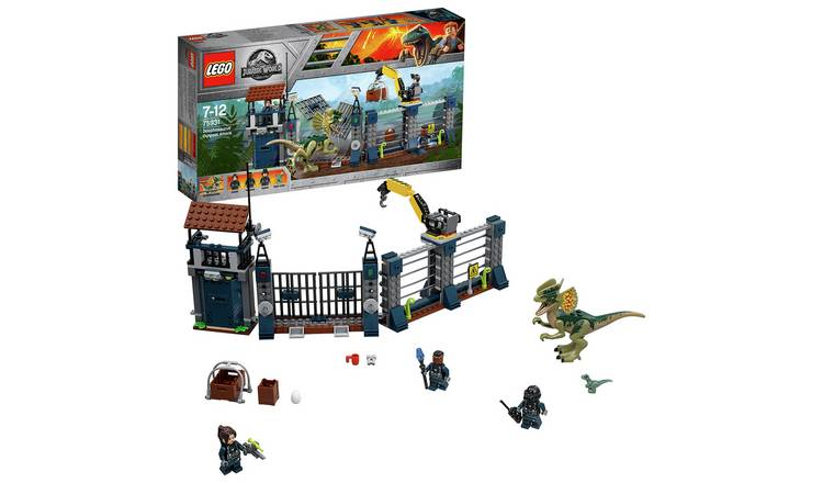 LEGO Jurassic World Dilophosaurus Attack Dinosaur Toy- 75931