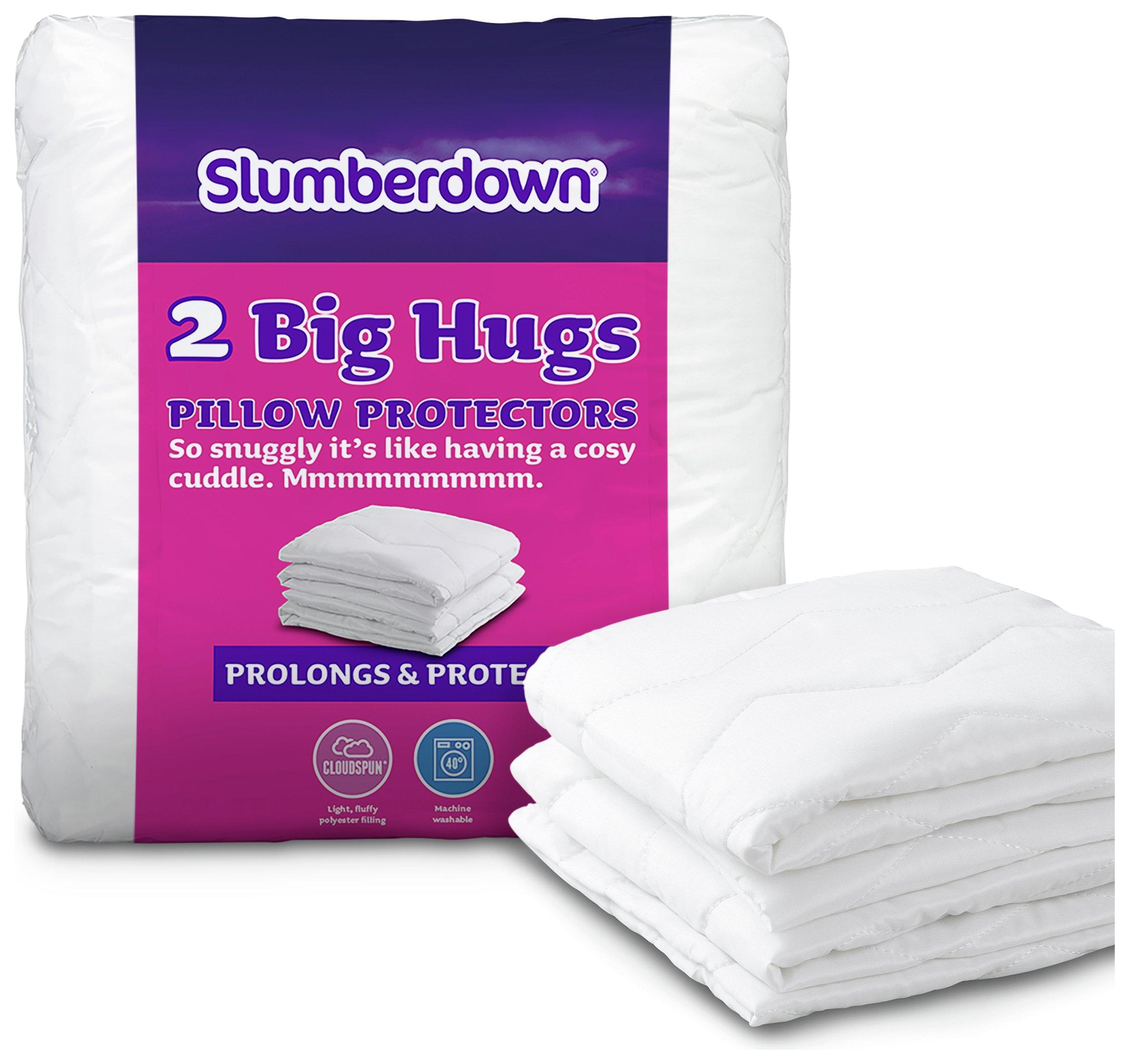 slumberdown big hugs pillow protectors  2 pack
