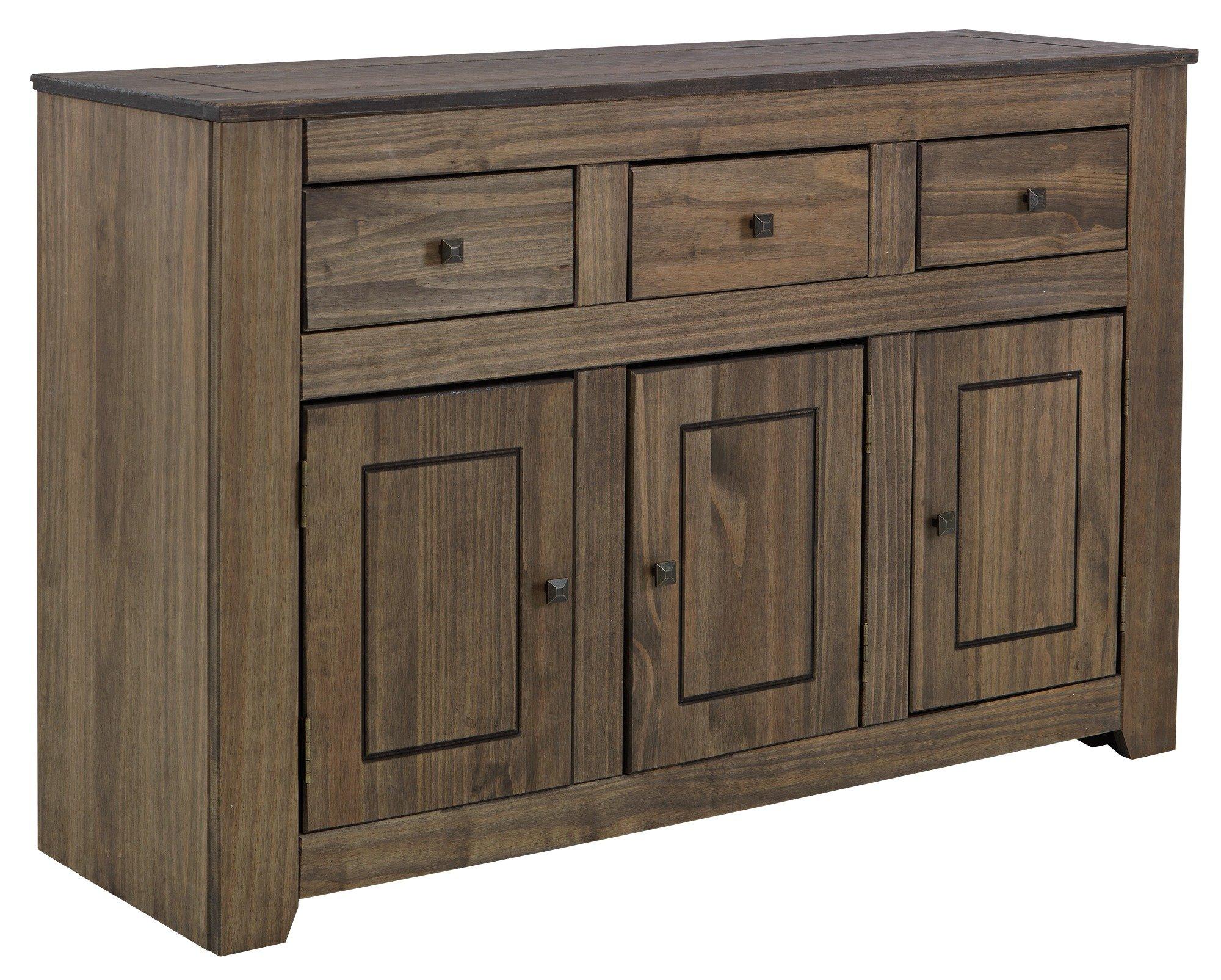 HOME Amersham Large Solid Wood Sideboard - Dark Pine