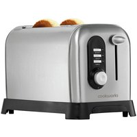 Cookworks Highlift 2 Slice Toaster - Stainless Steel