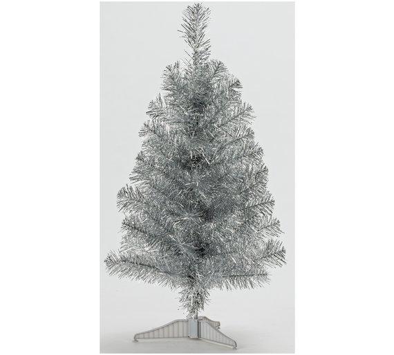 home 2ft tinsel christmas tree silver - 2 Ft Christmas Tree