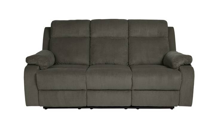 Argos Home New Bradley 3 Seat Power Recliner Sofa - Charcoal
