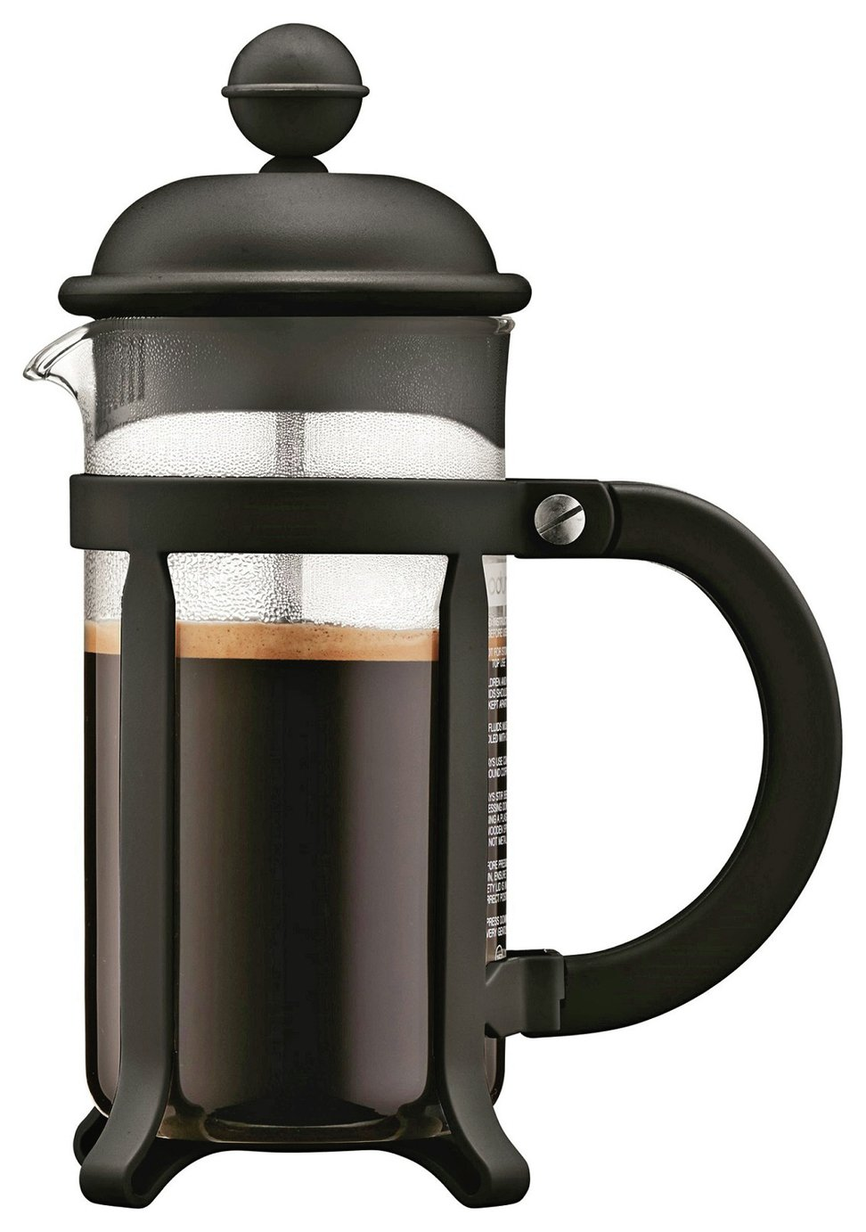 Image of Bodum 3 Cup Black Cafetiere