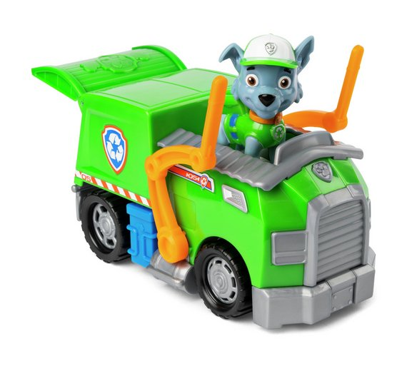 buy paw patrol rocky and rocky s recycling truck action figures
