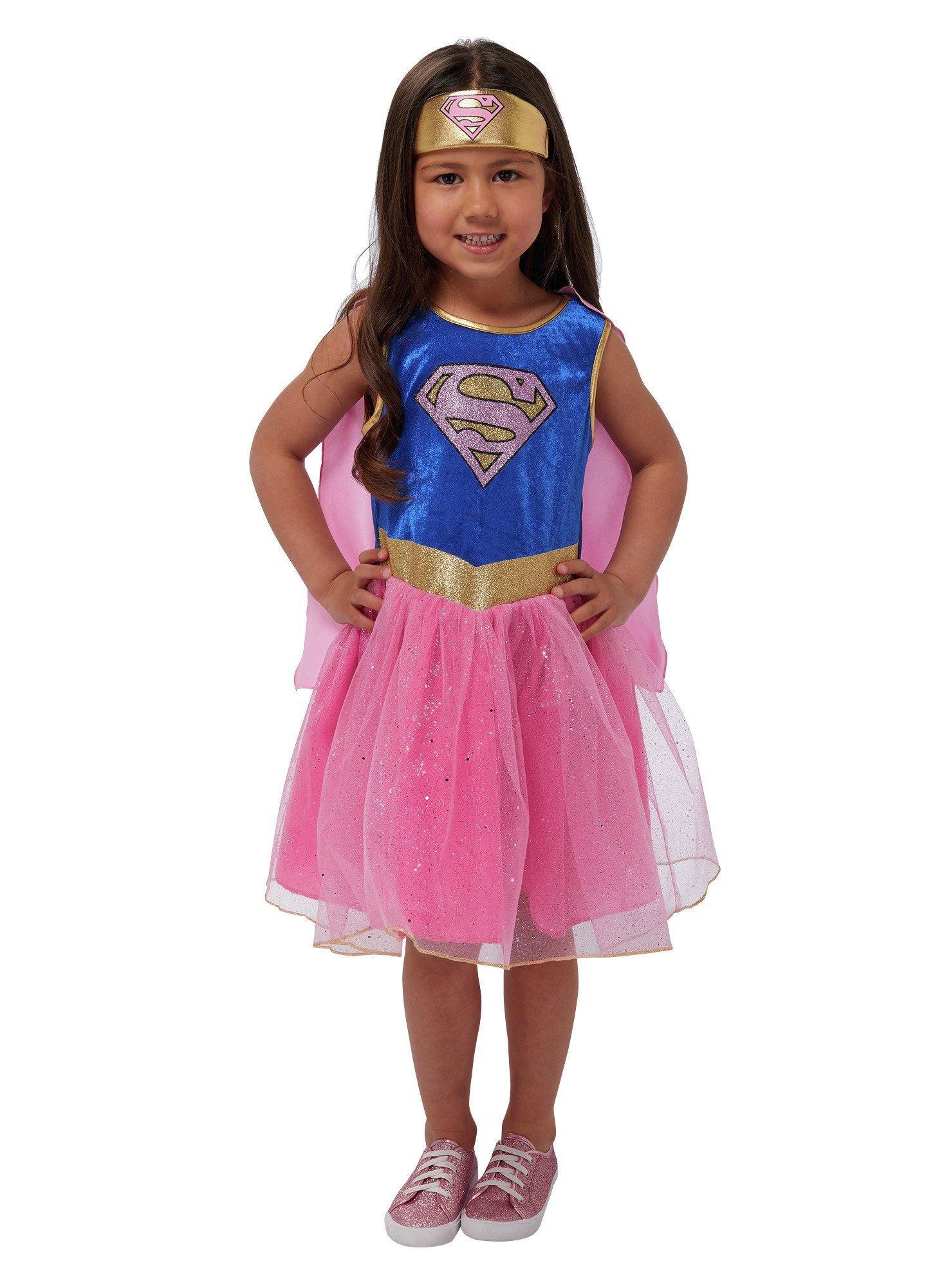 Image of DC Supergirl Fancy Dress Costume - 3-4 Years