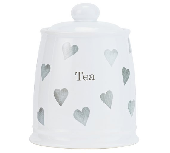 buy argos home set of 3 grey hearts storage jars storage sets and