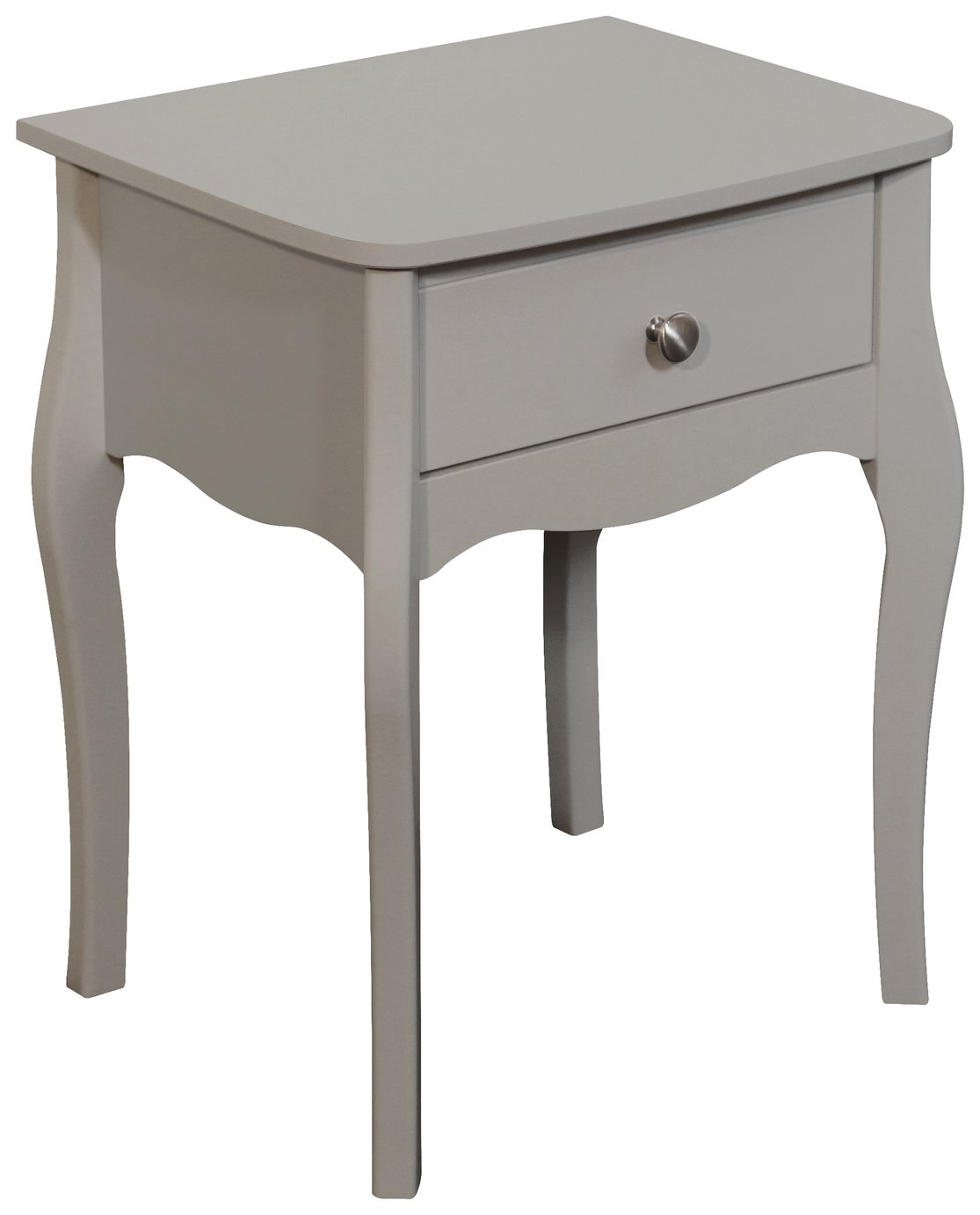 Image of Baroque 1 Drawer Bedside Chest - Grey