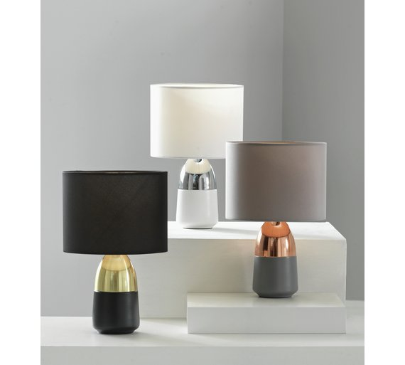 Buy home duno touch table lamp grey copper at argos click to zoom aloadofball Gallery
