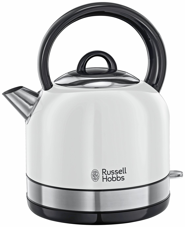 russell hobbs oslo white kettle 23904 kettles. Black Bedroom Furniture Sets. Home Design Ideas