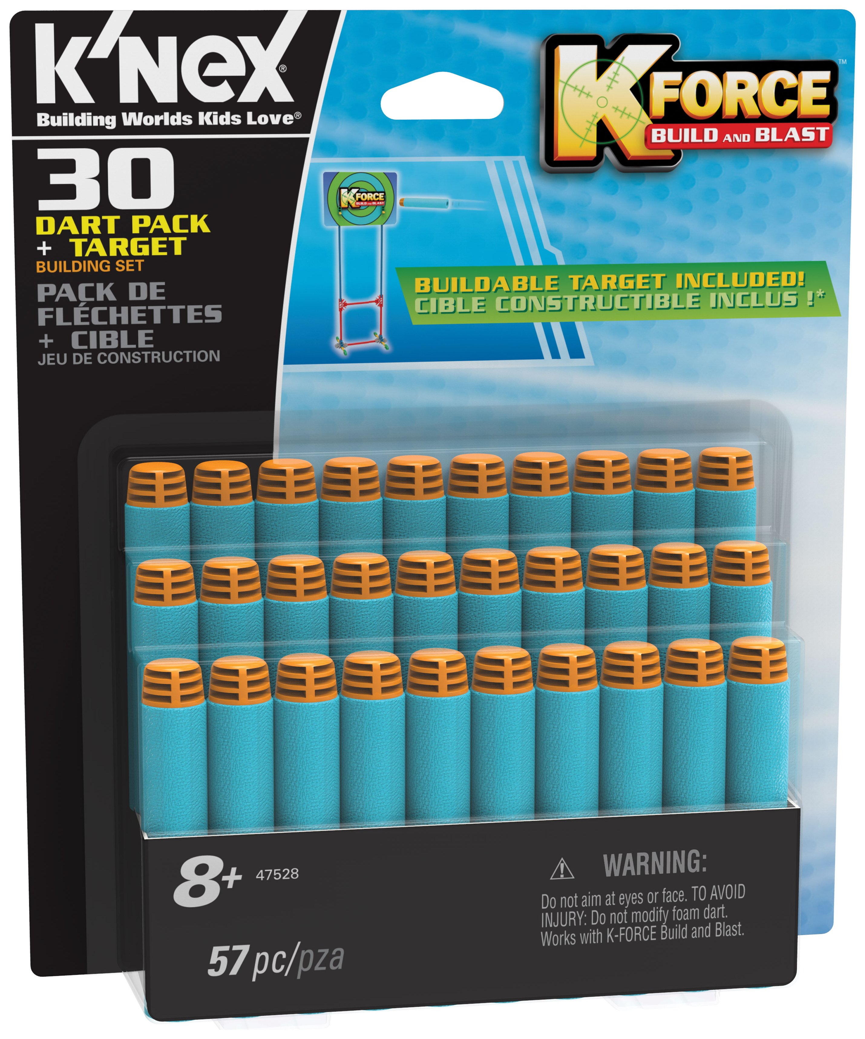 K'NEX K-Force Darts and Target - 30 Pack