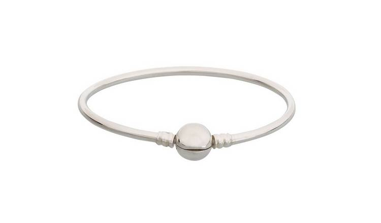 Moon & Back Sterling Silver Bangle