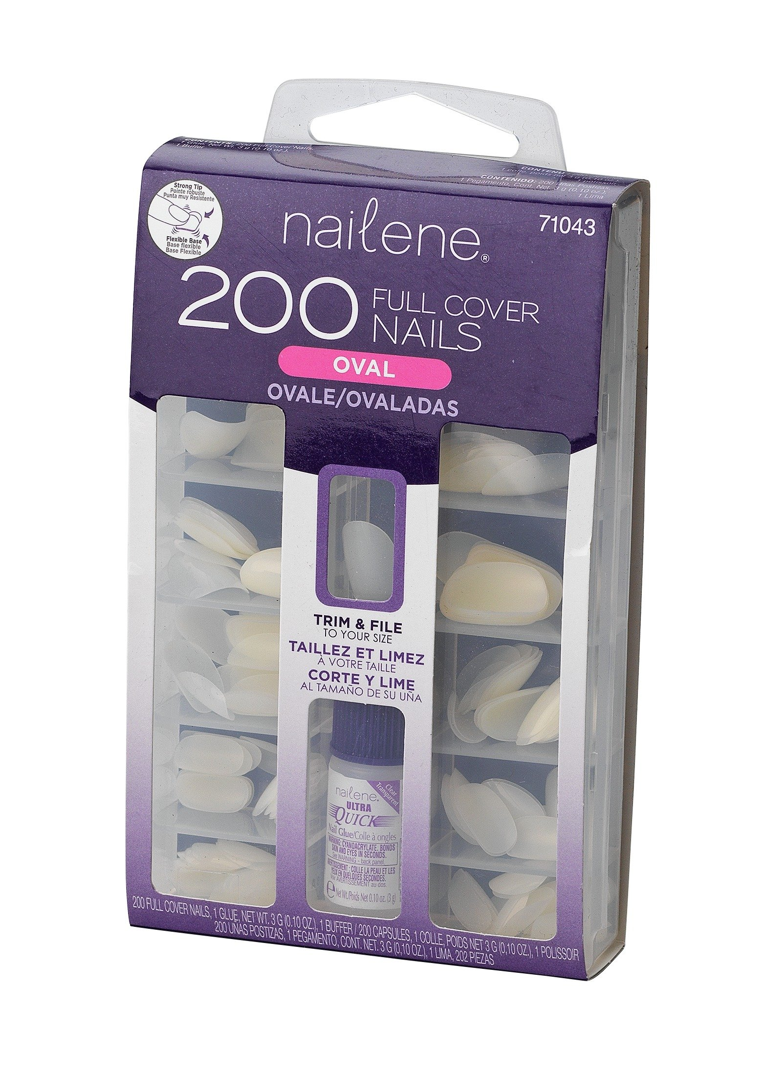 Nailene Pack of 200 Oval Nails