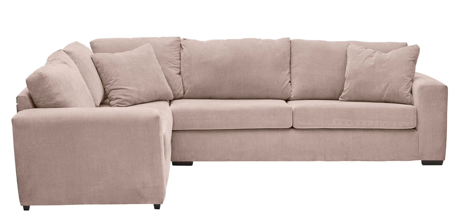 Argos Home Eton Left Corner Fabric Sofa - Old Rose