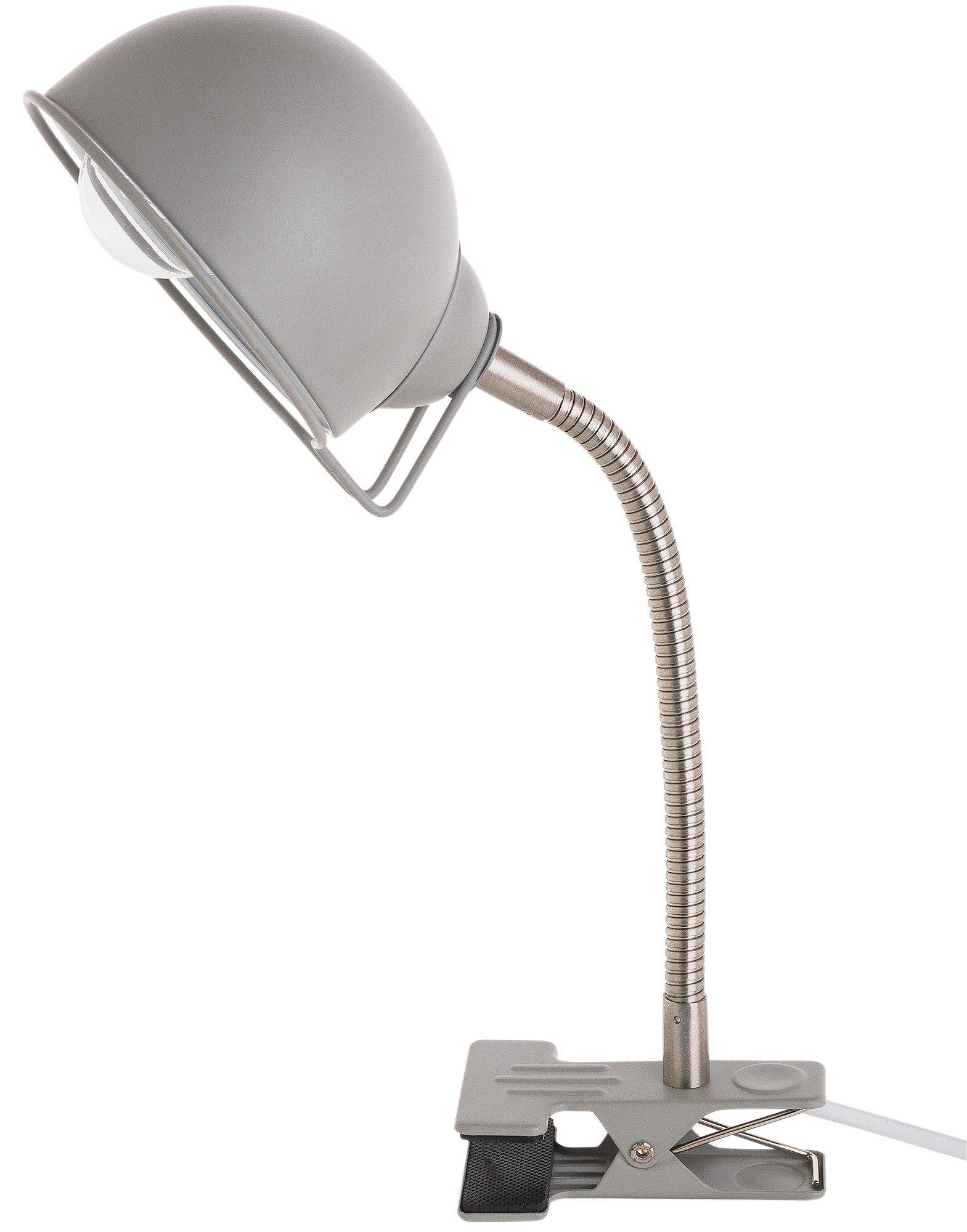 home halo metal clip lamp grey